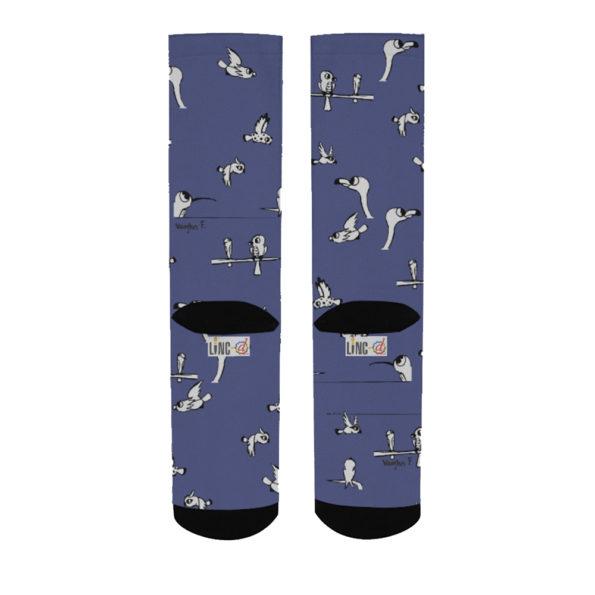 Men's Bird Socks back