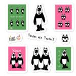 pandas are perfect sticker
