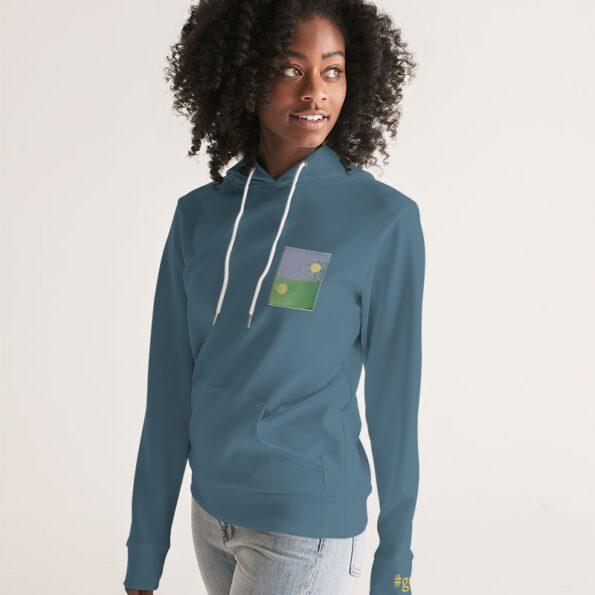 blue women's hoodie