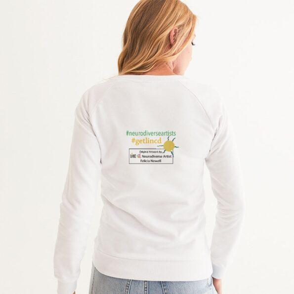 white women's sweatshirt