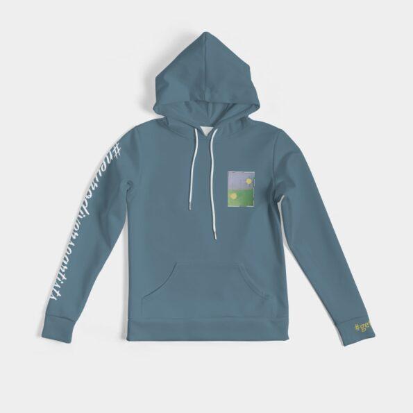 women's blue hoodie