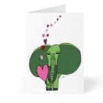elephant card front photo