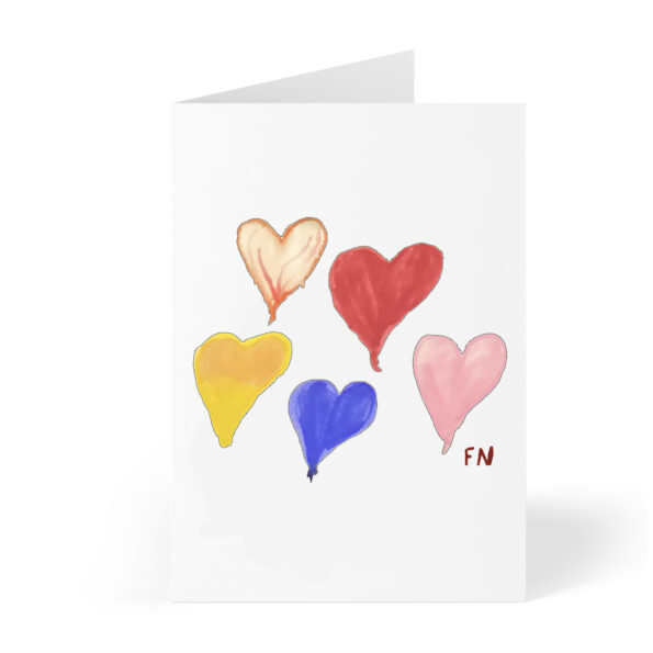 hearts card photo front